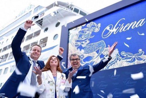 Frank Del Rio (rechts) bei der Einführung der MS Sirena / © Oceania Cruises