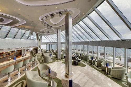 MSC Seaview, MSC Yacht Club Top Sail Lounge © MSC Cruises